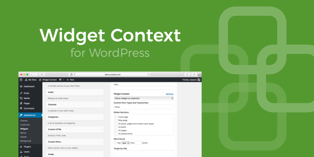 Widget Context for WordPress